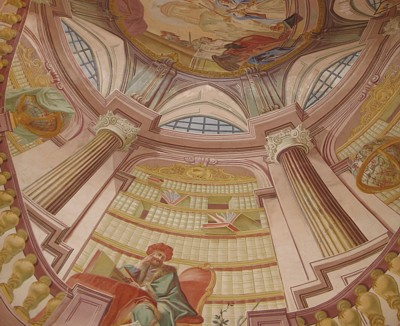 Library fresco in Prague by Alex Berger
