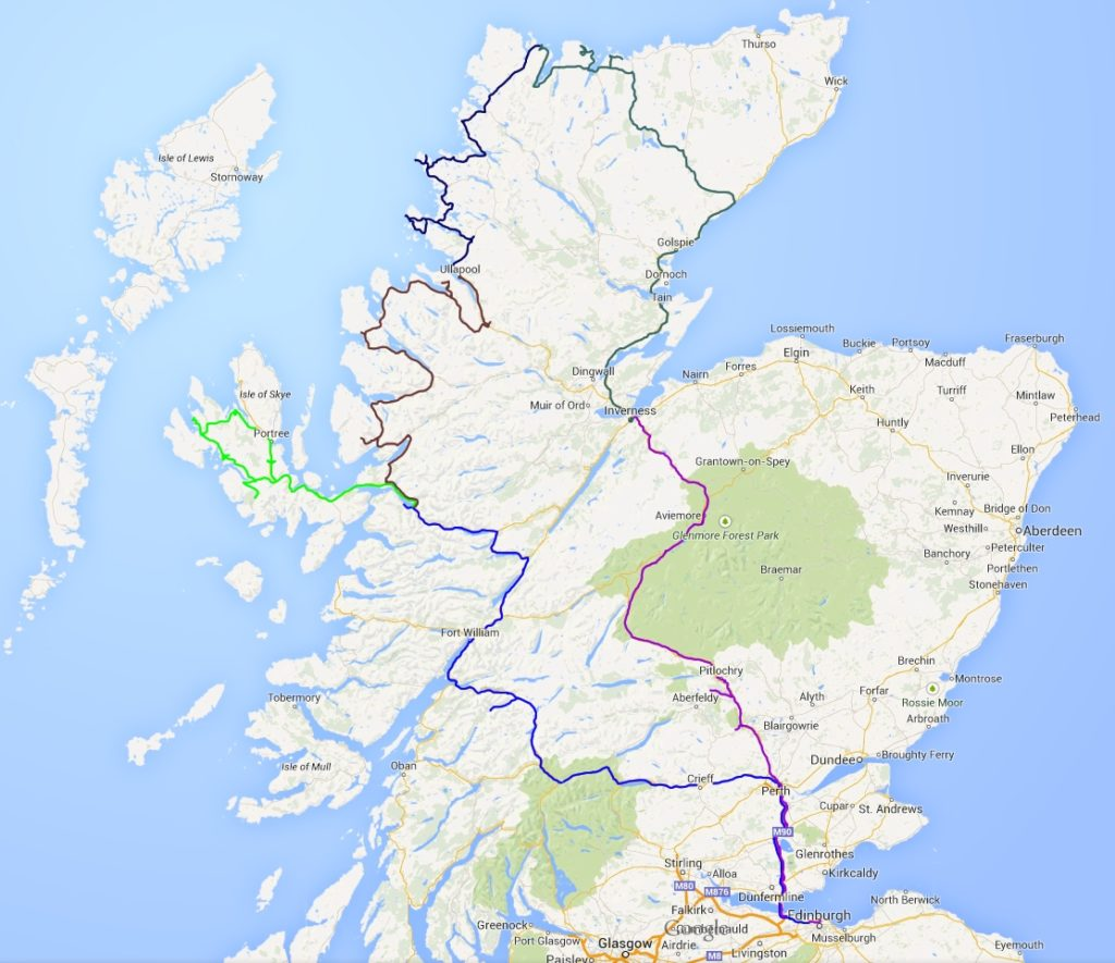 The Scotland Road Trip Map