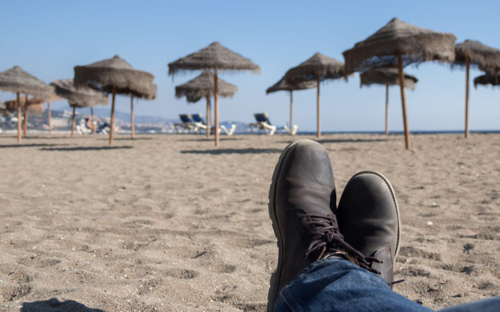 Malaga Beach Boot Shot Spain