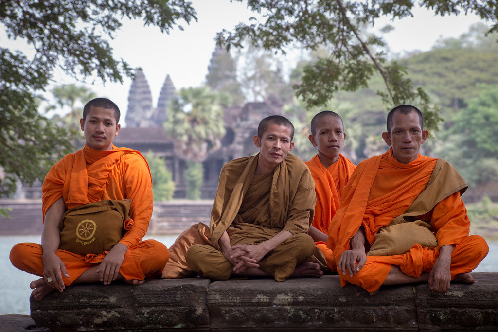 Monks at Angkor Wat by Alex Berger
